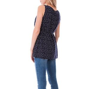 57340f523a5 Seraphine Tops - Seraphine Navy Dot Woven Maternity & Nursing Top